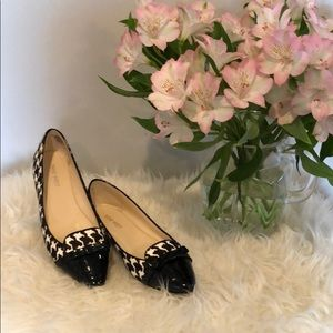 Nine West Almond Toe Houndstooth Flats